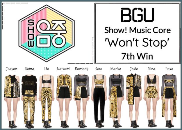 BGU Show! Music Core 'Won't Stop'