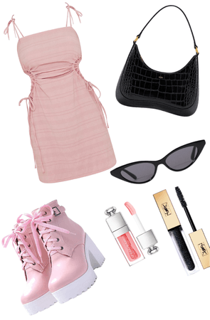 black and pink outfit!