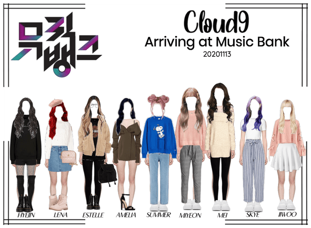 Cloud9 (구름아홉) | Arriving at Music Bank | 20201113