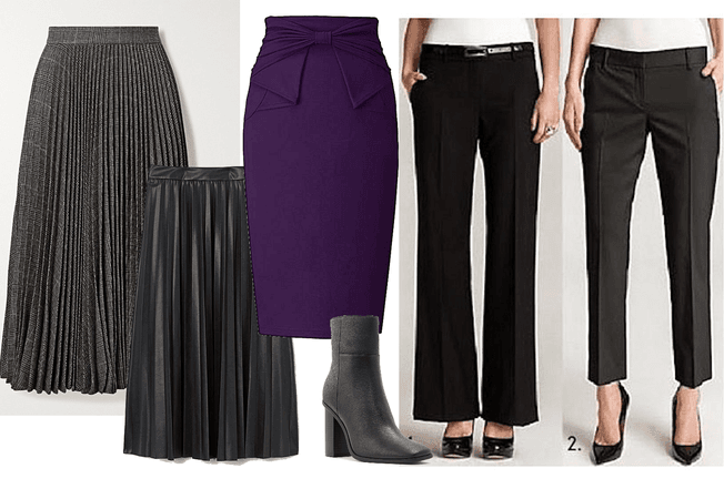 skirts  pants for pear shaped type