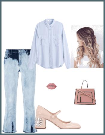 Pantalon semi Oxford