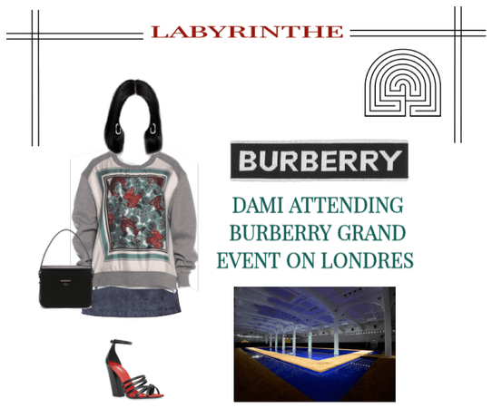 Labyrinthe dami Burberry event