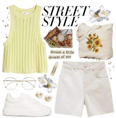 street style in the grocery aisle