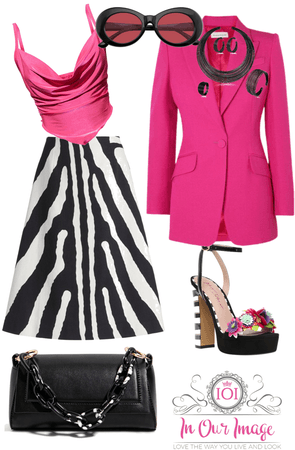 Pink/Black/White Contrast