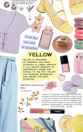 pastel with yellow