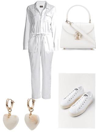 White glam & Converse