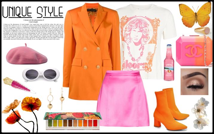 Orange Crush On Pink