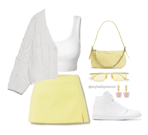 Spring Pastel Yellow Look