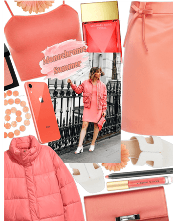 Monochrome coral outfit