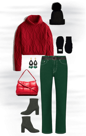 A Windy Day in Red and Green! 🌬