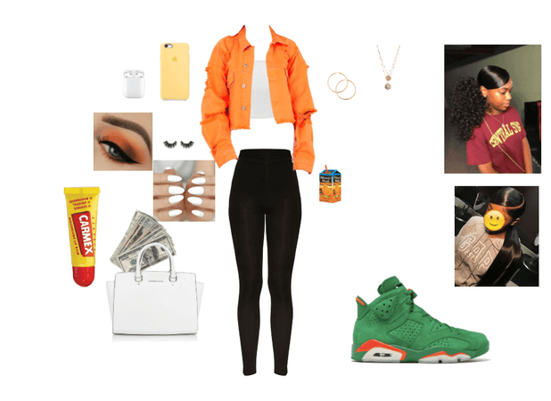orange & green mood
