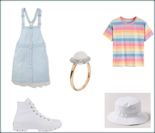 Rainbow soft girl