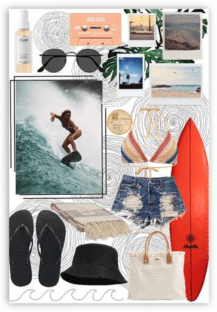 tropical surf break