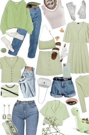 Green x Denim