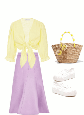 Outfit pollera lila