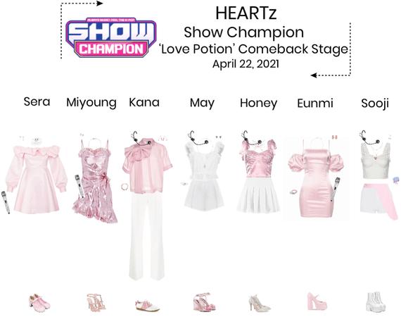 {HEARTz} 'Love Potion' Show Champion Comeback Stage