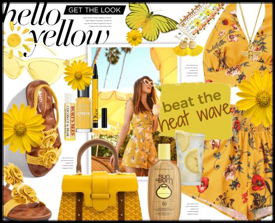// beat the heat: bold golden yellow //