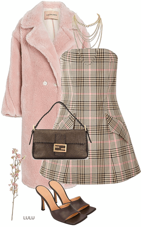 Soft pink and Brown