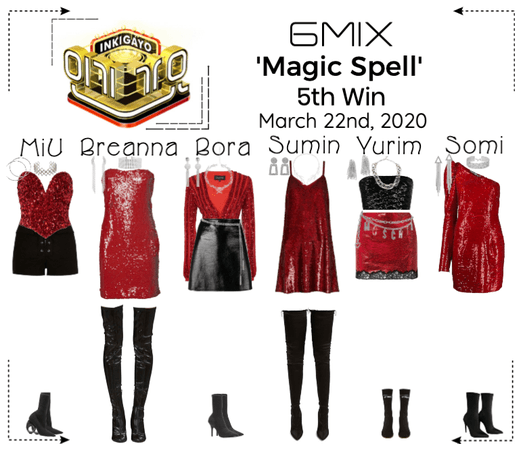 《6mix》Inkigayo Live 'Magic Spell'