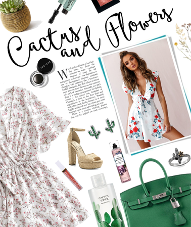 a springtime style: flowers and cactuses