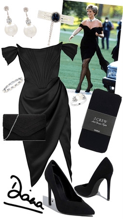 iconic look by princess Diana