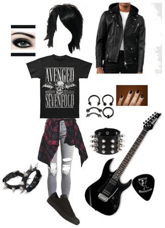 Emo gothic edgy teen outfit