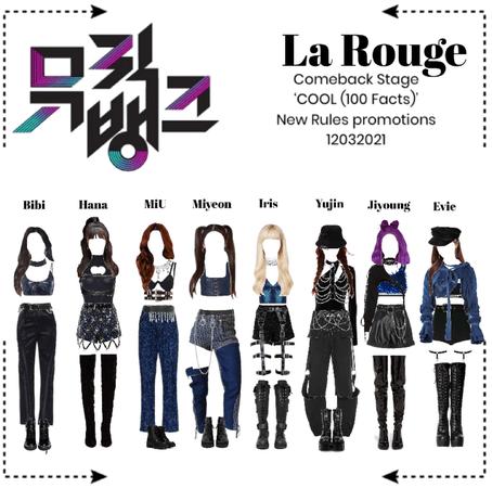 라로그 [𝗟𝗮 𝗥𝗼𝘂𝗴𝗲] - Music Bank comeback stage 'COOL (100 Facts)' (12032021)