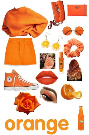 orange as a girl