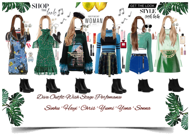 Diva Outfit Wish Stage Perfomance