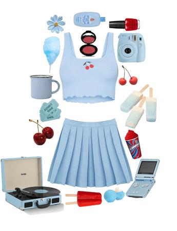 Cherry Blue Coquette
