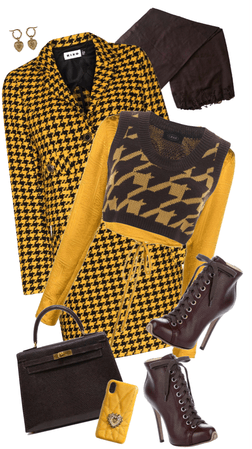 Busy Bee in Houndstooth
