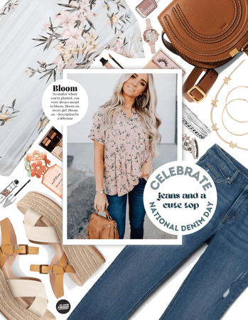Jeans And A Cute Top: Floral Allure