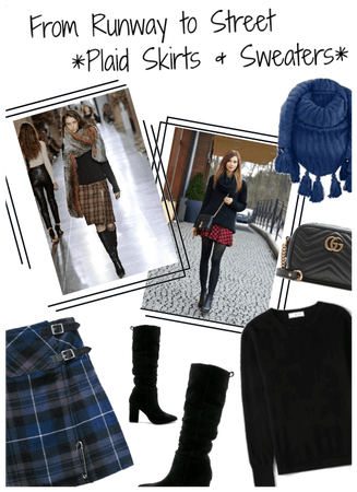 Frkm Runway 2 Street/Plaid Skirts n Sweaters