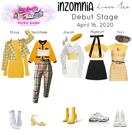 INZOMNIA 'Love Me' Debut Live Stage on Music Bank Outfits 04.20
