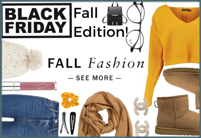 Black Friday: Fall Edition!