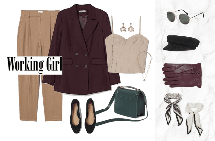Elegant work outfit with layers for most seasons