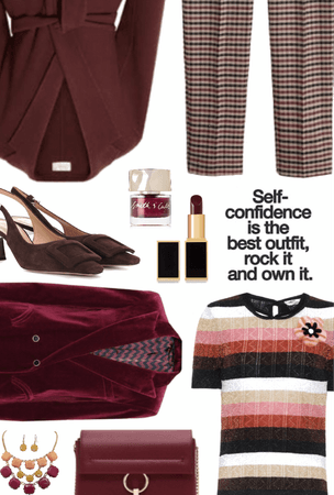 Burgundy Job Interview Style