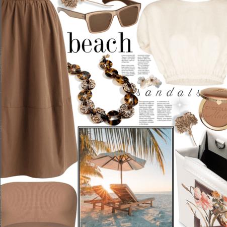 Beach sandals.