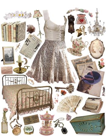 vintage fairy tale girl aesthetic 🥴