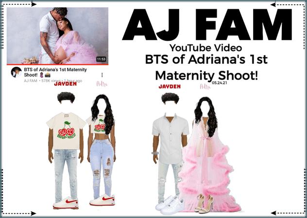 AJ FAM | BTS of Adriana's 1st Maternity Shoot!
