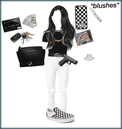 Black and white twist