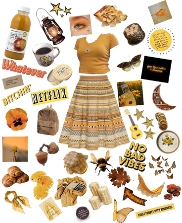 Yellow and brown aesthetic-mango outfit