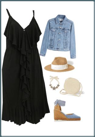 NY & CO BLACK JERSEY DRESS