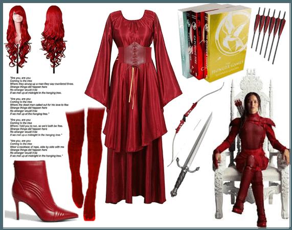 cosplay an book character(Katniss Everdeen)