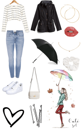 Women's Rainy Day Outfit