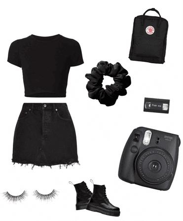 gothic but stylish girl
