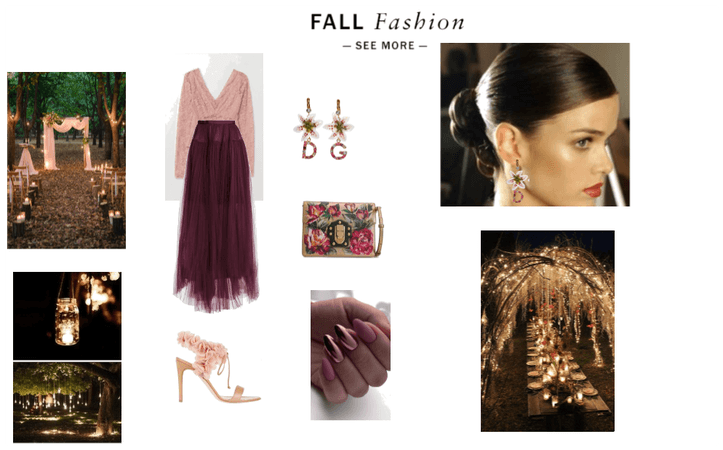 Elegant look for a special occasion in early atumn
