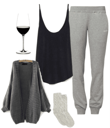 comfy movie night outfit idea