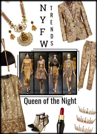 NYFW: Queen of the Night/Gold Brocade