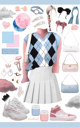 baby blue and pastel pink